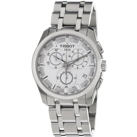 Tissot men 39 s steel bracelet case anti reflective sapphire quartz white dial analog watch for Anti reflective watches