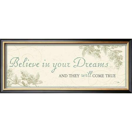 Believe in your dreams Framed Art Print Wall Art  By Alain Pelletier - 21x9