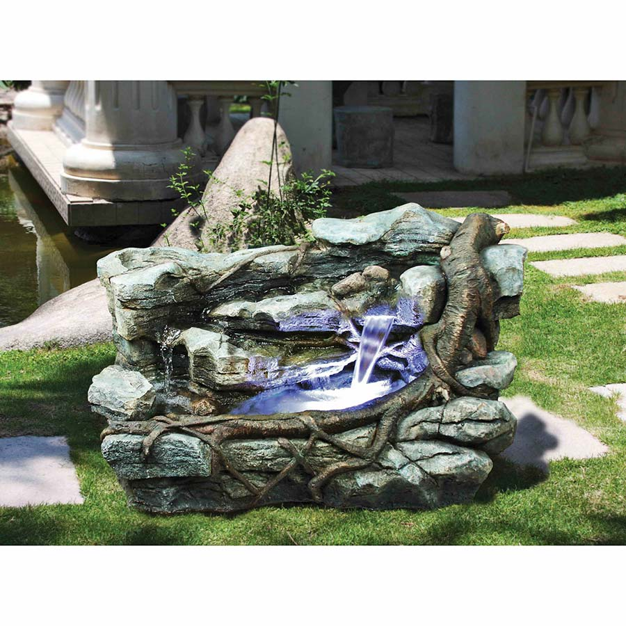 Staggered Rock Canyon Cascading Garden Fountain