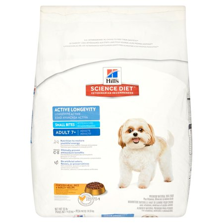 Hills Science Diet Chicken Meal  Rice   Barley Recipe Premium Natural Dog Food Adult 7   33 Lb