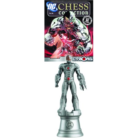 Dc Superhero Cyborg White Rook Chess Piece With Magazine