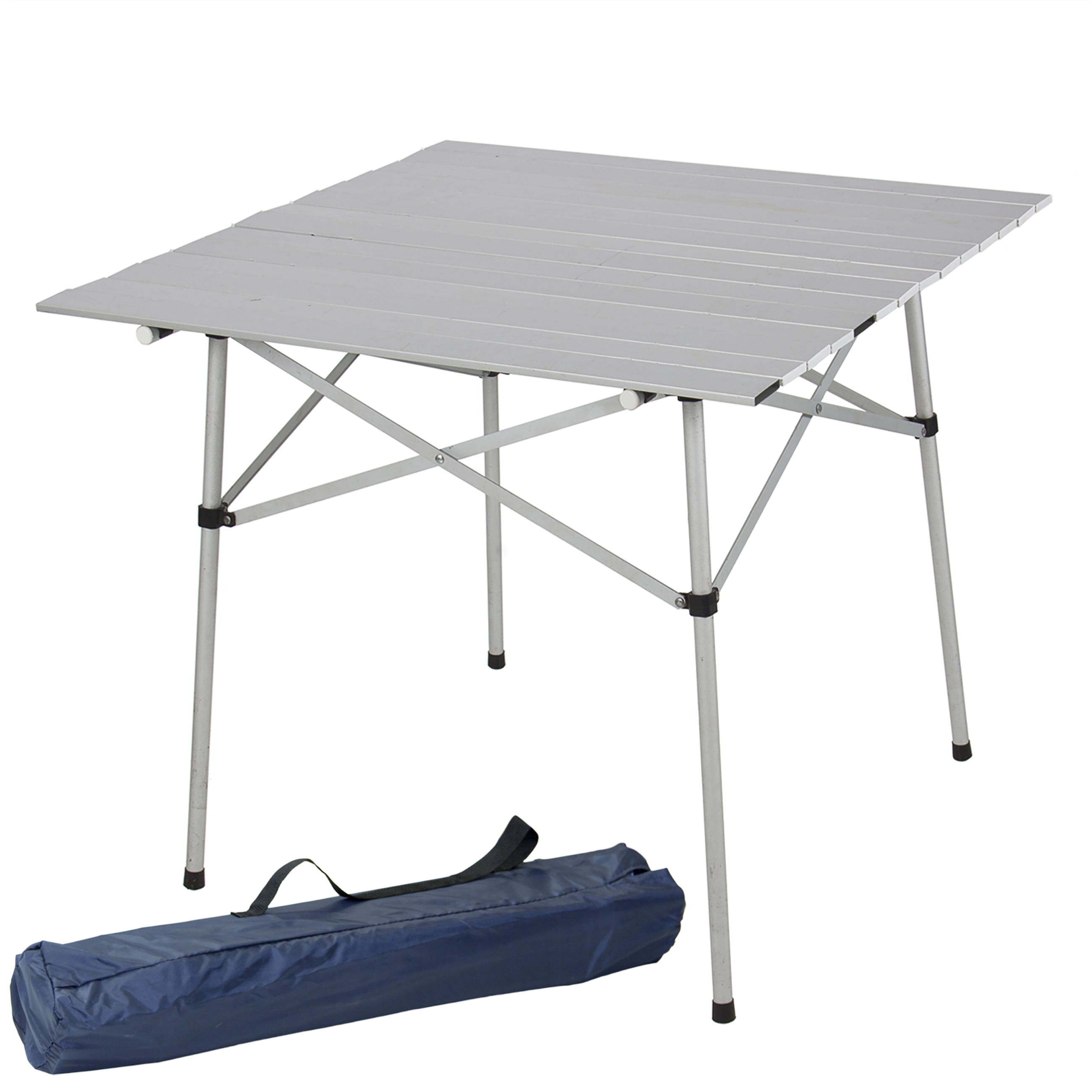 Best Choice Products Aluminum Roll Up Table Folding Camping Outdoor Indoor  Picnic Table Heavy Duty