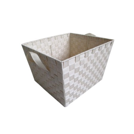 Storage Solutions Woven Strap Storage Bin for Closet, Bedroom, and Laundry Organization - X-Large Ivory