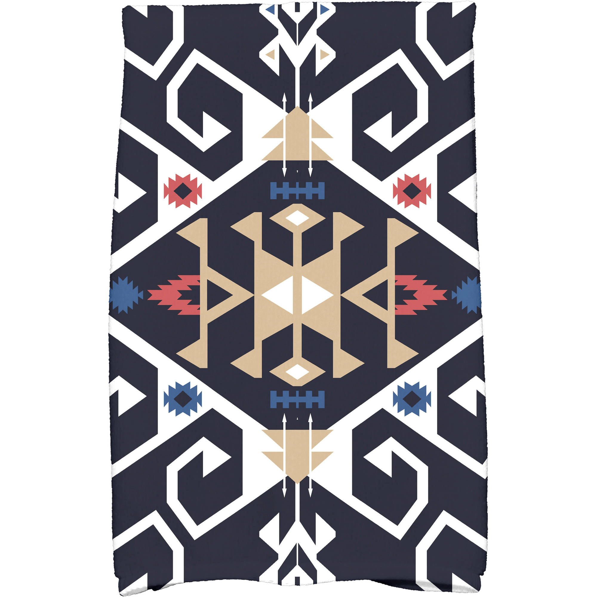 "Simply Daisy 16"" x 25"" Jodhpur Medallion Geometric Print Kitchen Towel by E By Design"