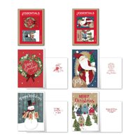 B-THERE Bundle of 24 Christmas Holiday Boxed Cards with Envelopes - Folk Kraft