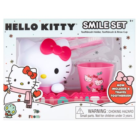 339bf0180 Hello Kitty Toothbrush, Toothbrush Holder, Rinse Cup Gift Set, 3pcs -  Walmart.com
