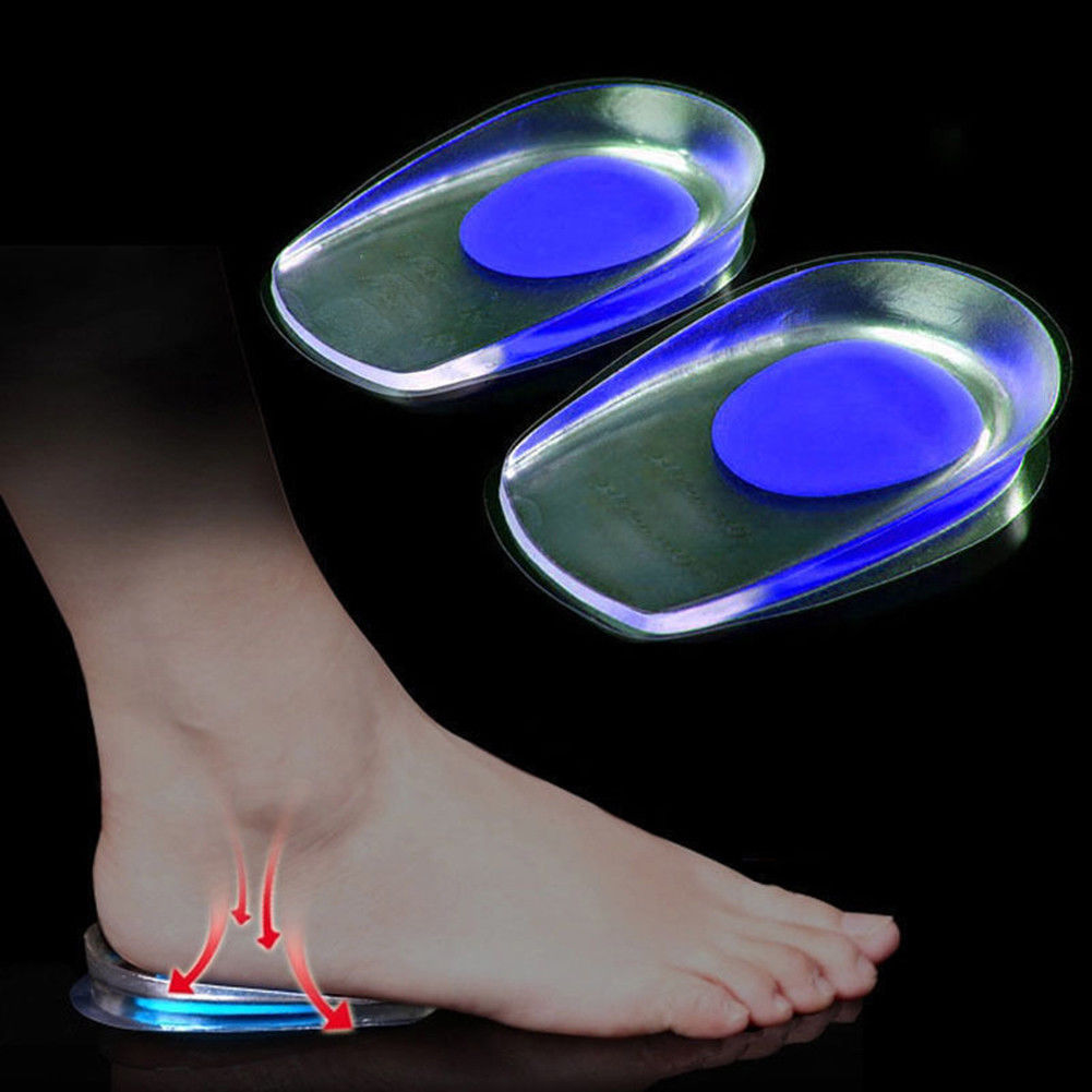 1 Pair Heel Cup Plantar Fasciitis Shoe Inserts Silicone Feet Heel Orthopedic Cushion Foot Pain Relief Fast Gel Heel Pads Insole Foot Care