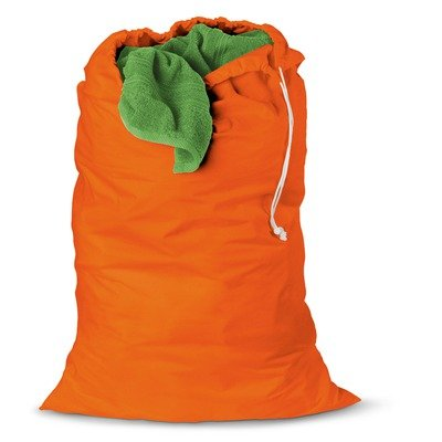 Honey Can Do Jersey Cotton Laundry Bag, Orange, 2-Pack