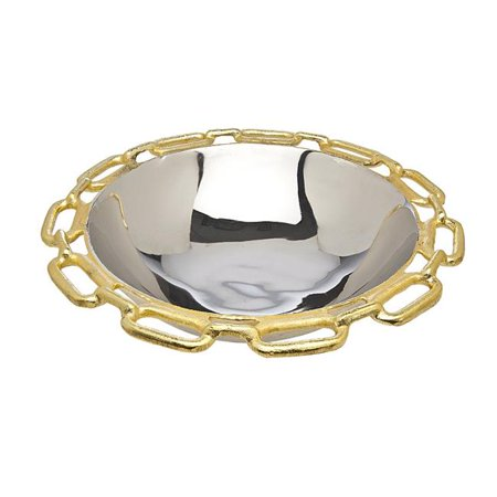 Godinger Silver Jewelry Box (Godinger Silver Art Gold Chain Bordr Round)