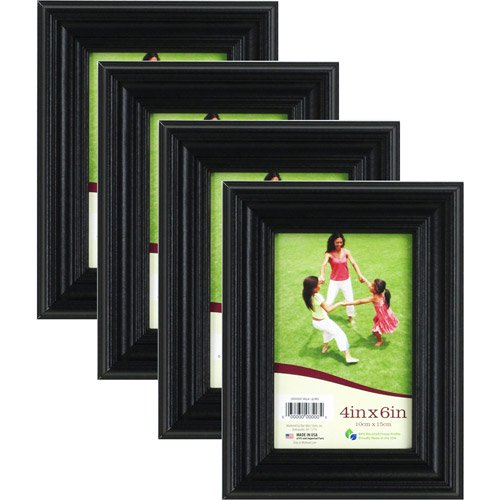 Casual Black 4x6 Picture Frame Set Of 4 Walmartcom
