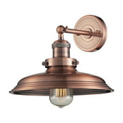 Newberry 1-Light Wall Lamp in Satin Nickel with Matching Shade