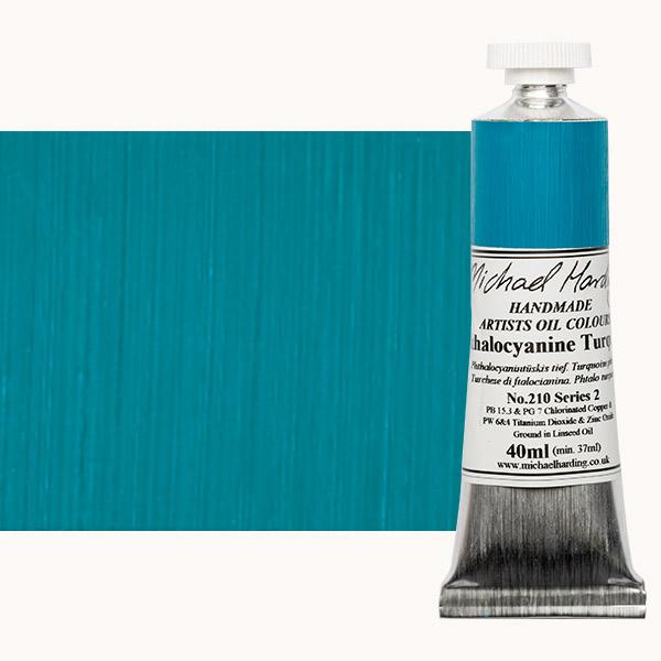 Michael Harding Handmade Artists Oil Color 40ml - Phthalocyanine Turquoise