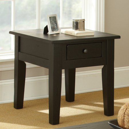 - Steve Silver Liberty Rectangle Antique Black Wood End Table