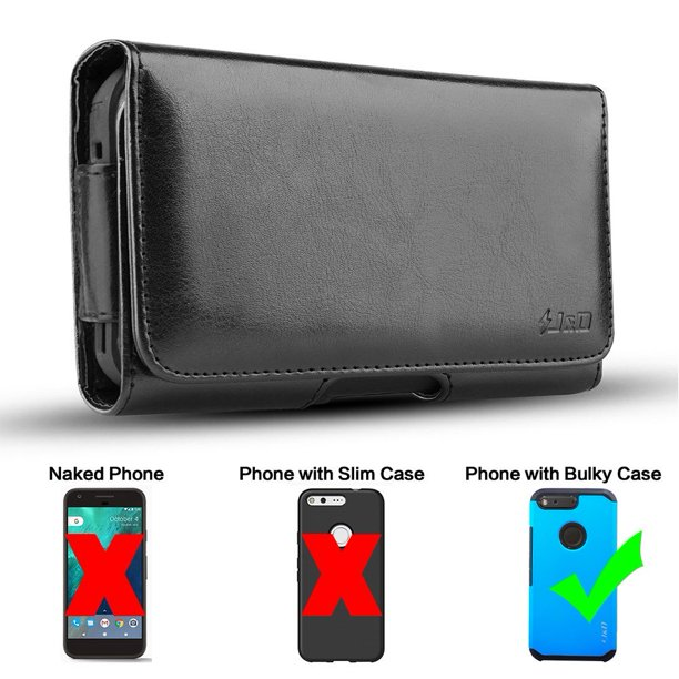 LG V20 Holster, J&D PU Leather Holster Pouch Case with