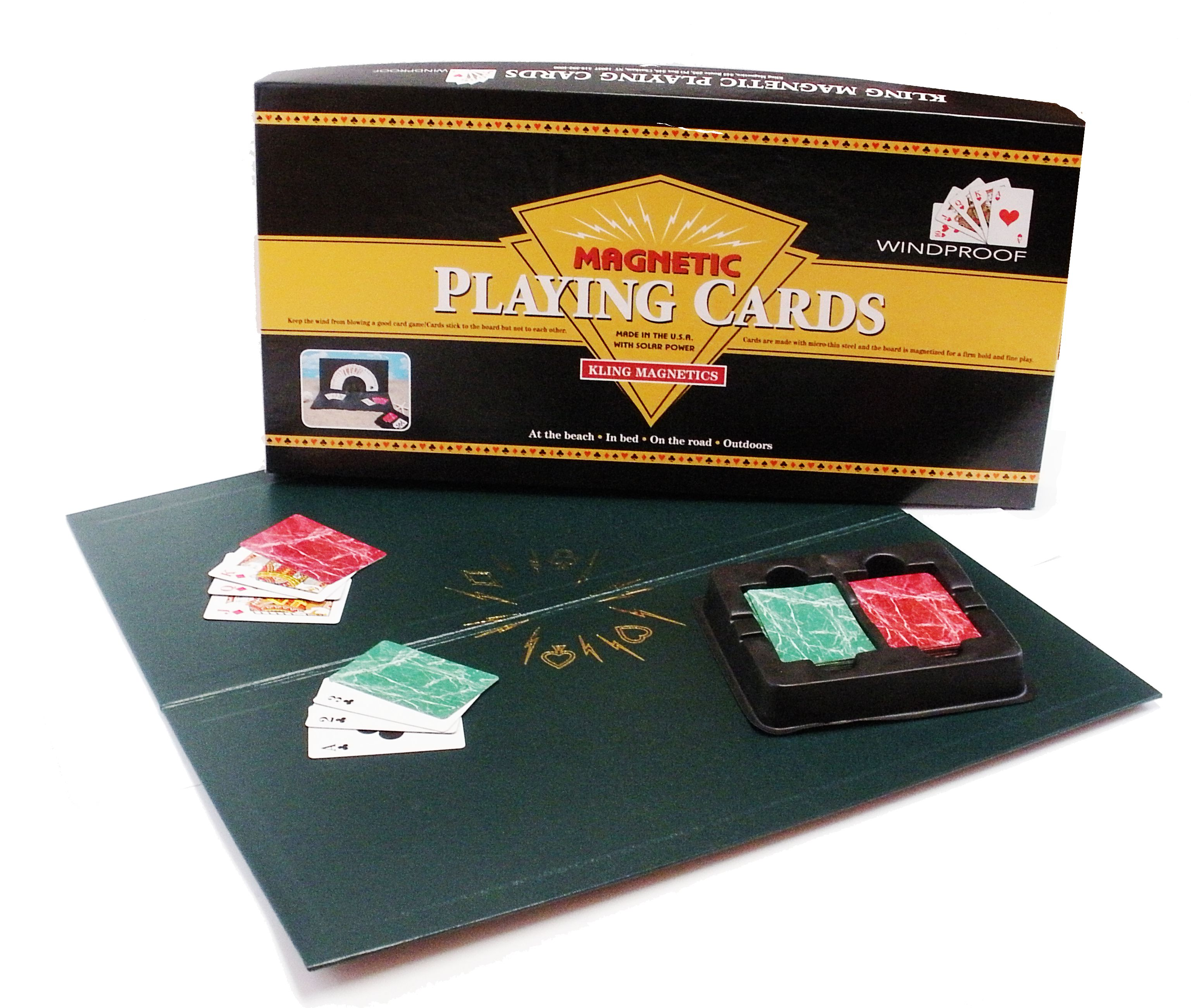 New Edition Kling Magnetic Playing Cards with Red Deck & Green Deck by Kling Magnetics