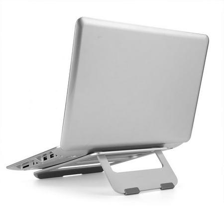 WALFRONT Aluminium Alloy Laptop Stand Folding Portable No-slip Notebook Heat Dissipation Support Holder, Notebook Stand, Portable Laptop Stand - image 5 de 7