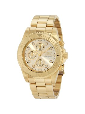 Invicta Men's 1774 Pro Diver Gold Tone Stainless Steel Chronograph Dive Watch