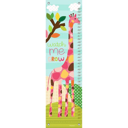 Oopsy Daisy - Growth Chart Watch Me Grow - Girl 12x42 By Lesley Grainger ()