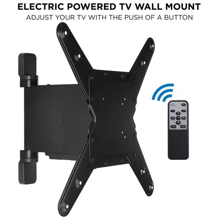 """Mount-It! Electric TV Wall Mount with Remote Controlled Full Motion Swivel Arm for 32""""-55"""" Flat Screen TVs ()"""