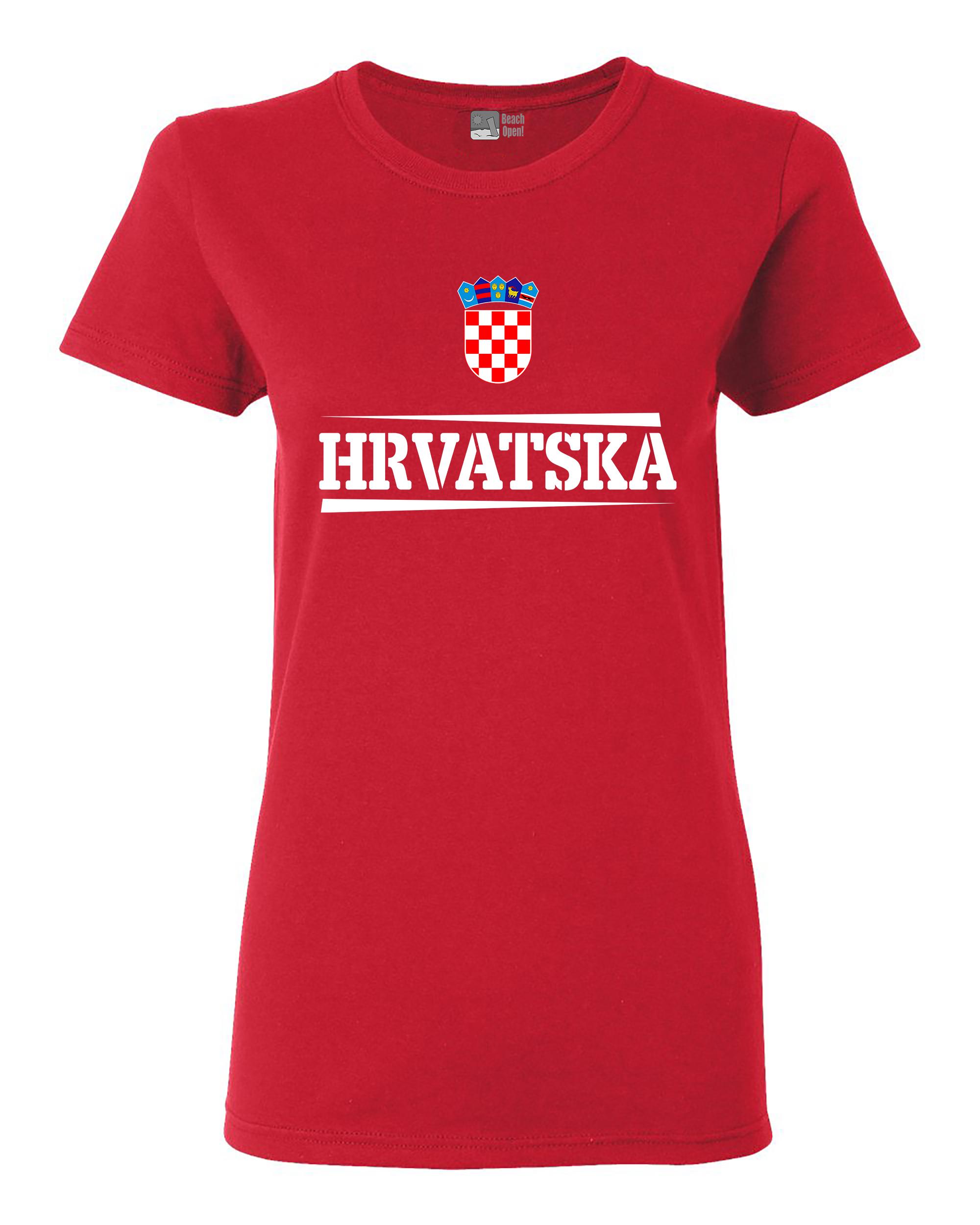 Ladies The World Hrvatska Croatia Football Soccer Team Sports DT T-Shirt Tee