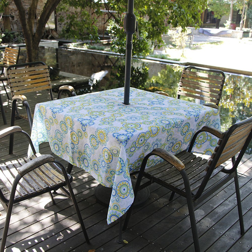 Square 60Inch Umbrella Outdoor Tablecloth with Zipper ...