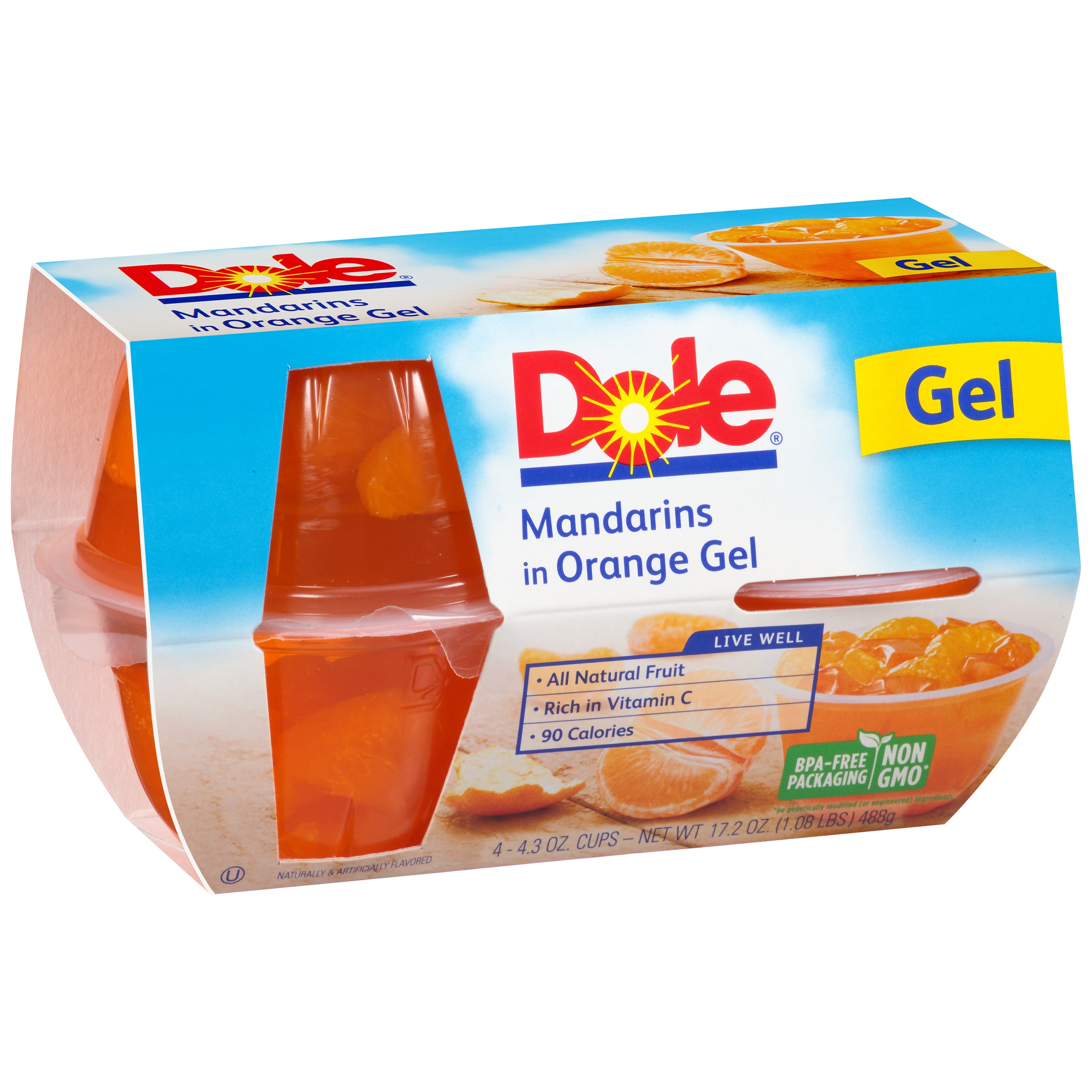 Dole�� Mandarins in Orange Gel 4-4.3 oz. Cups