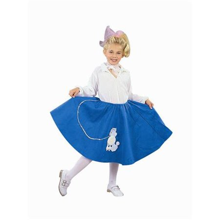 Blue Poodle Skirt Costume - Size Child-Small](Poodle Skirt Kids)