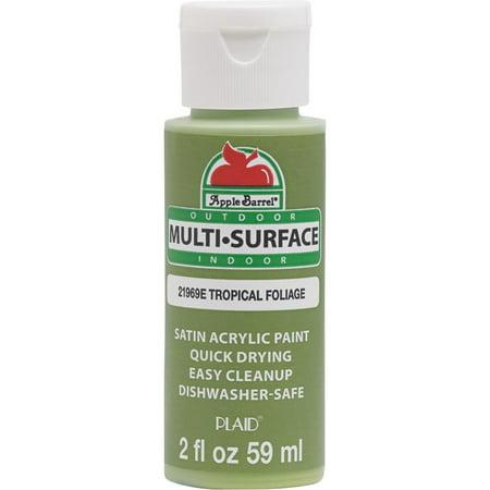 Le Barrel Multi Surface Satin Acrylic Paints Tropical Foliage Green Paint 2 Oz