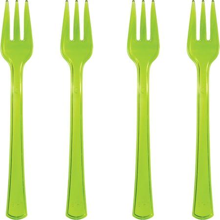 (3 pack) Trendware Translucent Green Mini Appetizer Forks, 24 - Appetizer Forks