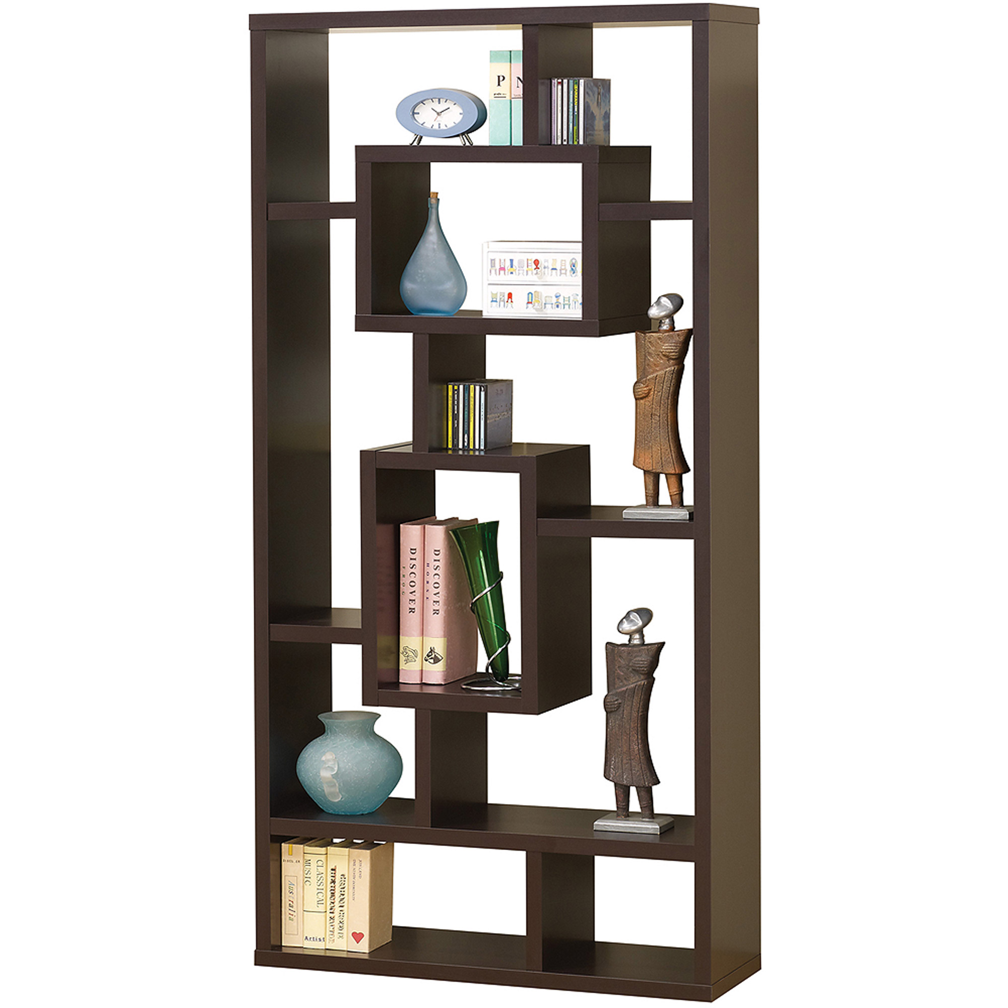 Coaster Cappuccino Interlocking Bookcase
