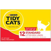 "Purina Tidy Cats Standard 22"" X 30"" Cat Litter Liners, 12 Ct."