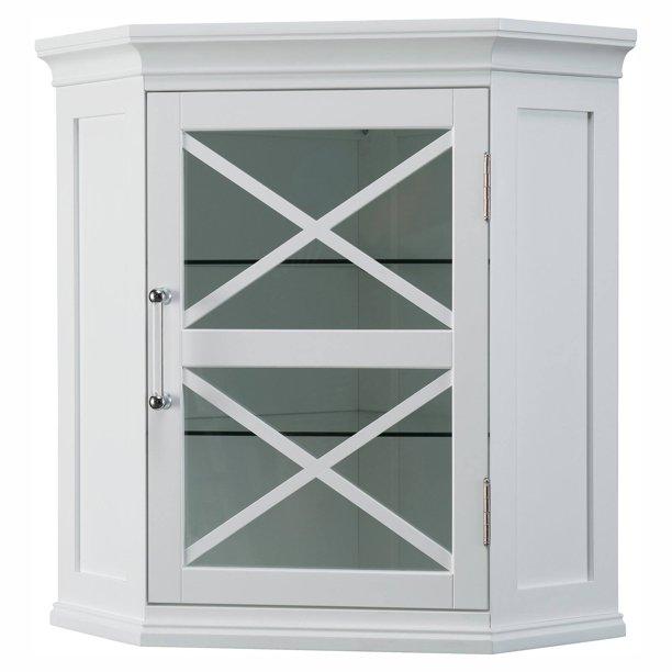 Elegant Home Fashions Ethan Corner Bathroom Wall Cabinet Walmart Com Walmart Com