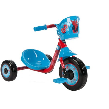 Marvel Spider Man Preschool Boys Blue Tricycle By Huffy