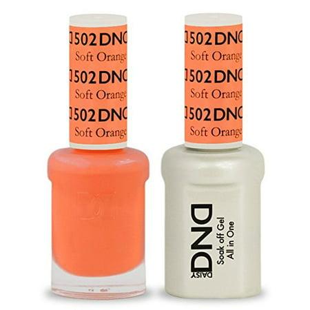 DND Nail Polish Gel & Matching Lacquer Set (502 - Soft Orange) (Orange Halloween Nails)