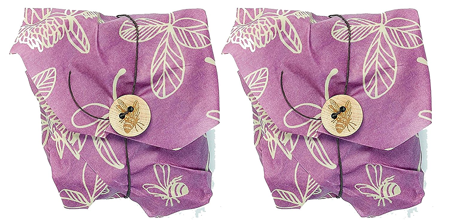 Bee's Wrap Sustainable Reusable Sandwich Wrap Clover Print Pack of 2 by
