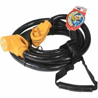 Camco 55146 RV 15' 50-Amp Male and 50-Amp Female PowerGrip Extension Cord