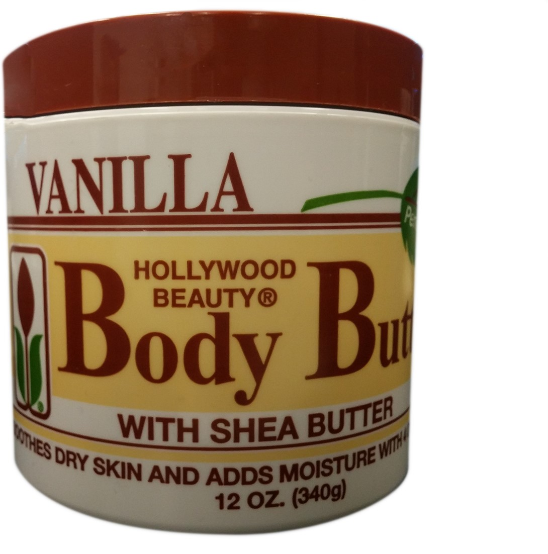 Hollywood Beauty Body Butter With Shea Butter & Vitamin E, 12 oz (Pack of 2)
