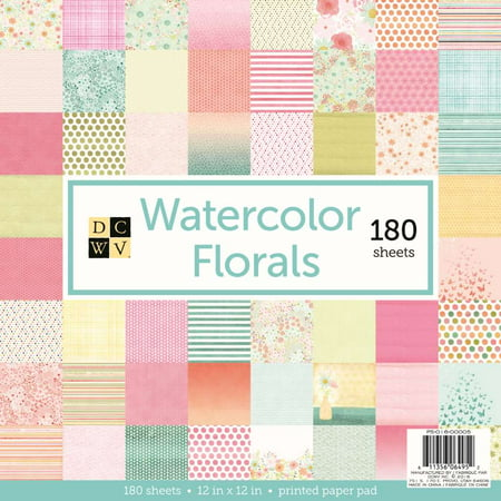American Crafts DCWV Watercolor Florals Cardstock - Paper Crafting Supplies, Scrapbooking Embellishment - 180 Sheets](Halloween Crafts Using Scrapbook Paper)