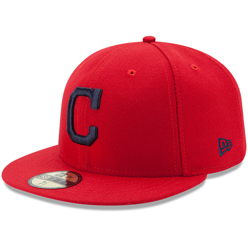 Cleveland Indians New Era Youth Authentic Collection On-Field Alternate 59FIFTY Fitted Hat - Red