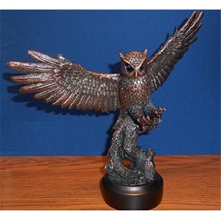 Marian Imports F10001 Owl Bronze Plated Resin Sculpture