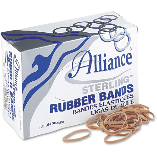 Alliance Sterling Ergonomically Correct Rubber Bands, #30, 2 x 1/8, 1500 Bands