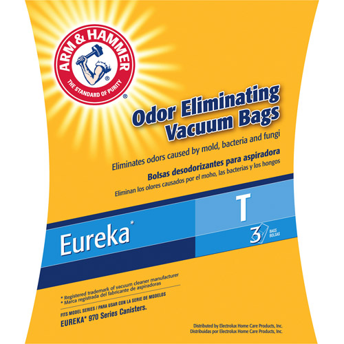 Eureka T-Style Arm & Hammer Odor-Eliminating Vacuum Bags for Maxima Canister 972 & Rally 2 Canister 980, 9-Pack