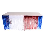 Patriotic Independence Day Metallic Fringe Foil Table Skirt Party Decoration