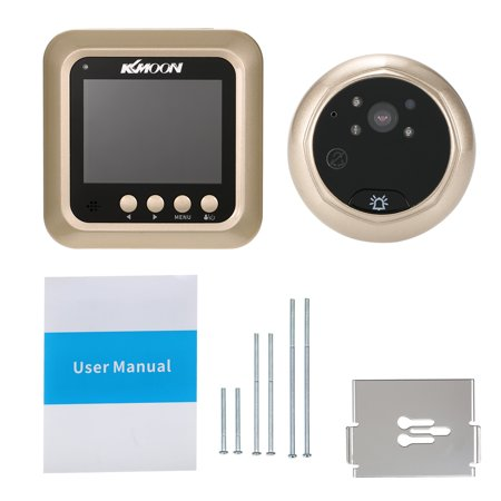 "KKmoon 2.4"" LCD Digital Peephole Viewer 160° Door Eye Doorbell HD IR Camera Night Vision Photo Taking/Video Recording TF Card for Home - image 4 de 7"