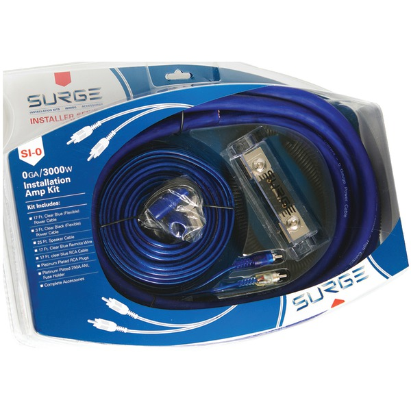 SURGE SI-0 Installer Series Amp Installation Kit (0 Gauge, 3,000 Watts)