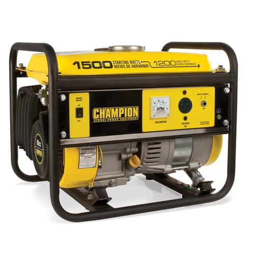 Champion Power Equipment Model 42436,  1200/1500 Watt Portable Gas-Powered Generator CARB