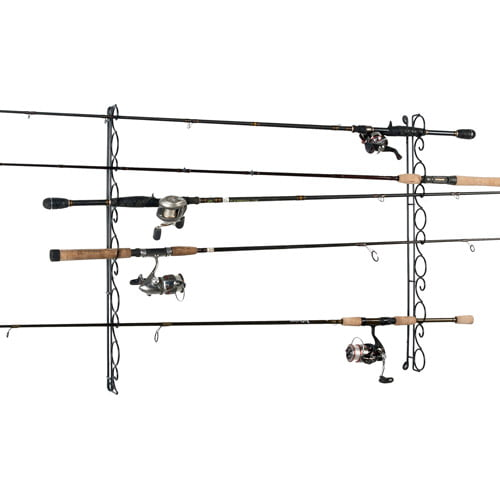 Click here to buy Organized Fishing 9-Capacity Wire Horizontal Ceiling Rod Rack by Organized Fishing.