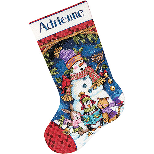 Cute Carolers Stocking Counted Cross-Stitch Kit, 16""