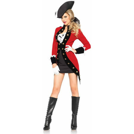 Gangnam Style Jacket Halloween (Leg Avenue 4-Piece Racy Red Coat Adult Halloween)