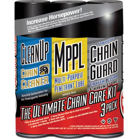 Maxima Synthetic Ultimate Chain Care Kit   Combo 3 Pack 70-779203